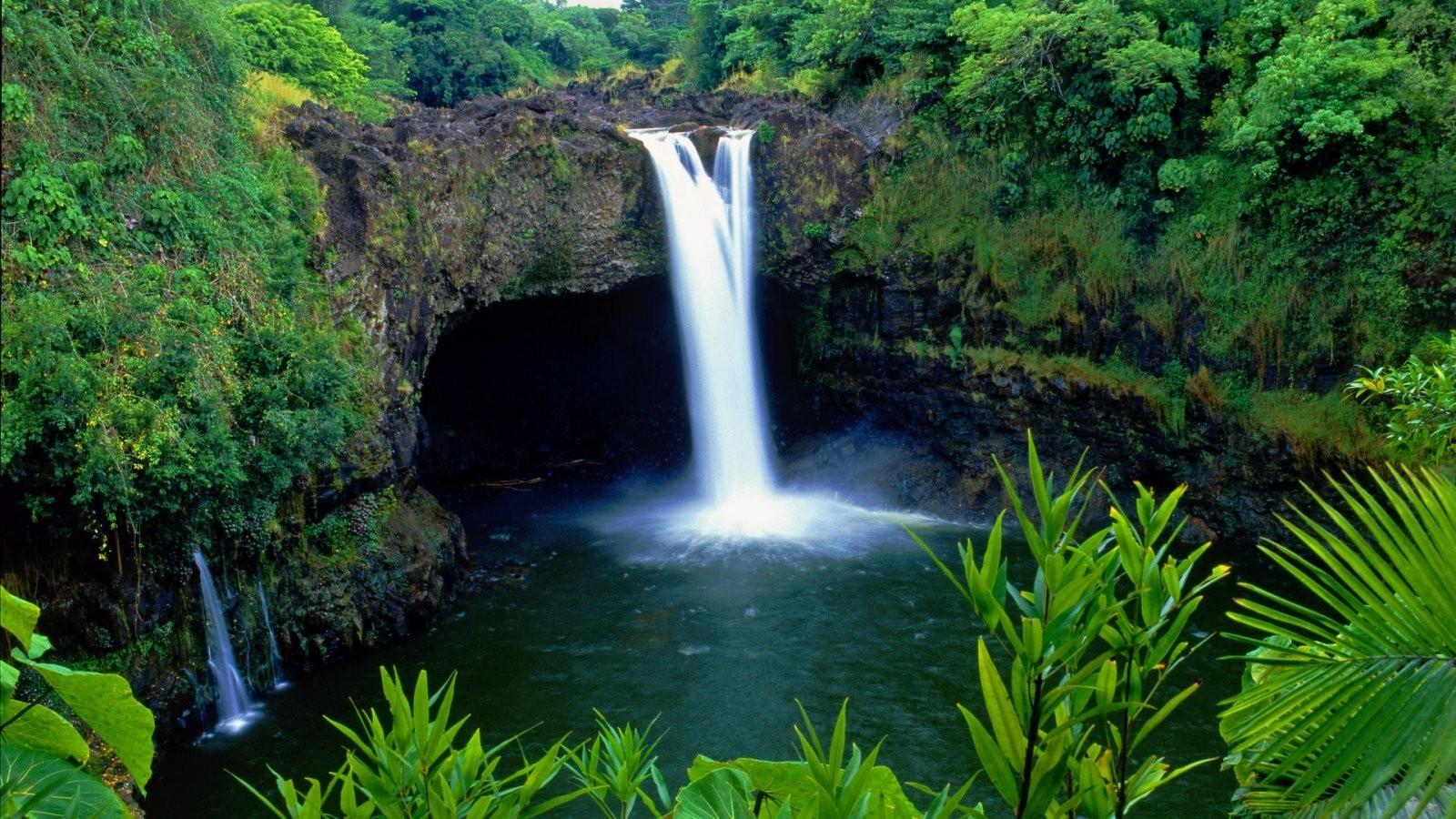 Nature Rainbow Falls Big Island Hawaii Jan Mahuna Inc